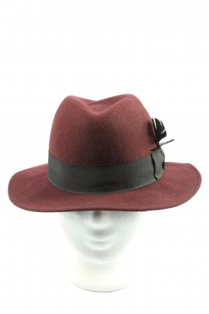 H&M Divided Sombrero de fieltro marrón-negro look casual