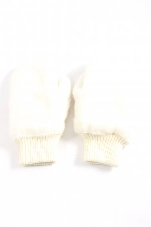 H&M Divided Fingerless Gloves natural white-cream casual look