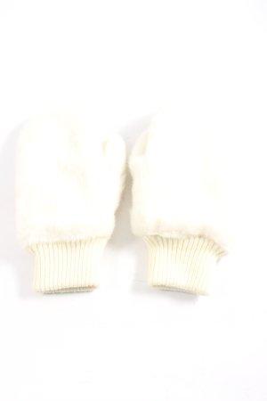 H&M Divided Handschoenen zonder vingers wolwit-room casual uitstraling