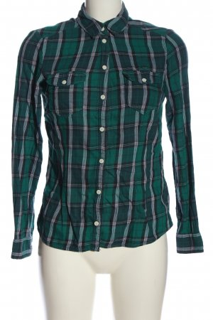 H&M Divided Flannel Shirt green-blue allover print casual look