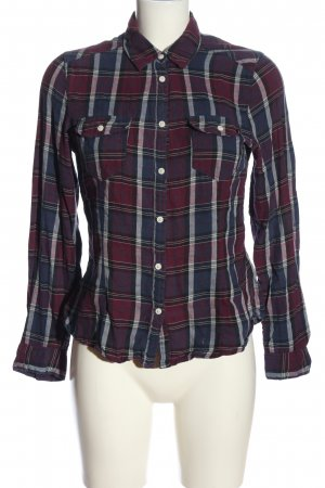 H&M Divided Flanellhemd blau-rot Karomuster Casual-Look