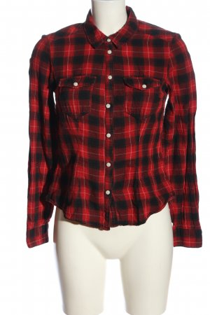 H&M Divided Flannel Shirt black-red check pattern casual look