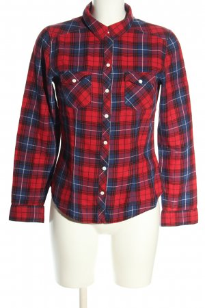 H&M Divided Flannel Shirt red-blue allover print casual look
