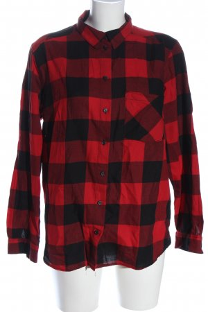 H&M Divided Flanellhemd rot-schwarz Allover-Druck Casual-Look