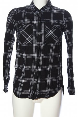 H&M Divided Flannel Shirt black-white check pattern casual look