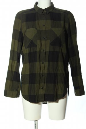 H&M Divided Flannel Shirt khaki-black check pattern casual look
