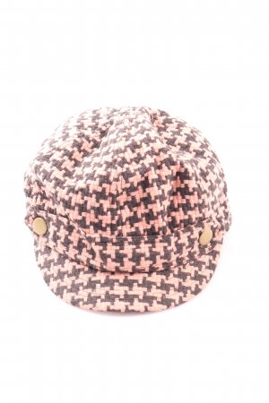 H&M Divided Flat Cap pink-brown allover print casual look
