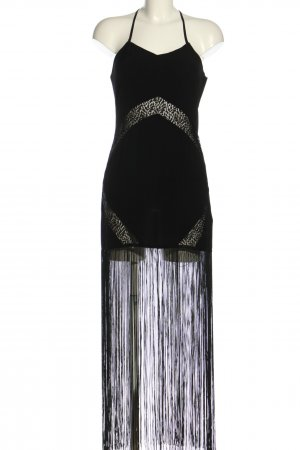 H&M Divided Sukienka z frędzlami czarny Elegancki