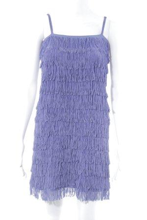 H&M Divided Jurk met franjes lila extravagante stijl