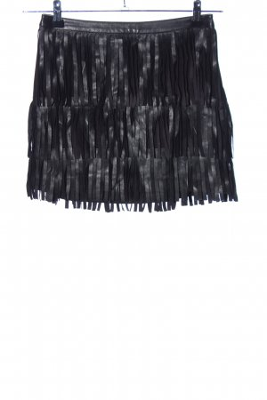H&M Divided Fringed Skirt black casual look