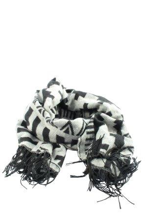 H&M Divided Bufanda de flecos blanco-negro look casual