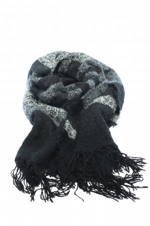 H&M Divided Fringed Scarf black-light grey casual look