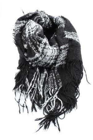 H&M Divided Fringed Scarf black-white allover print elegant