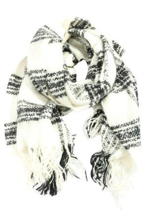 H&M Divided Sjaal met franjes wit-zwart casual uitstraling