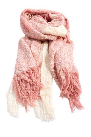H&M Divided Sciarpa con frange rosa-bianco stile casual