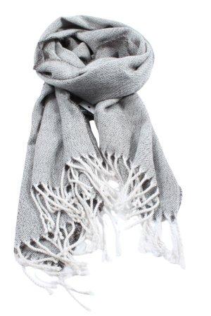 H&M Divided Sciarpa con frange grigio chiaro-bianco motivo a righe stile casual