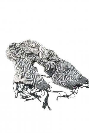H&M Divided Fringed Scarf black-white allover print casual look