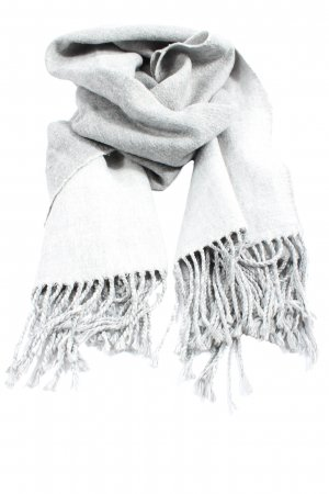 H&M Divided Fringed Scarf light grey casual look