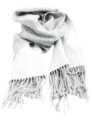 H&M Divided Bufanda de flecos gris claro look casual