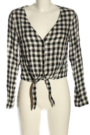 H&M Divided Splendor Blouse white-black allover print casual look