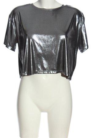 H&M Divided Blusa brillante argento stile casual