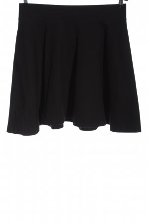 H&M Divided Flared Skirt black casual look