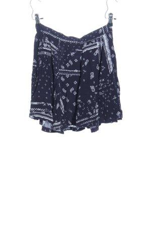 H&M Divided Glockenrock blau-weiß abstraktes Muster Casual-Look