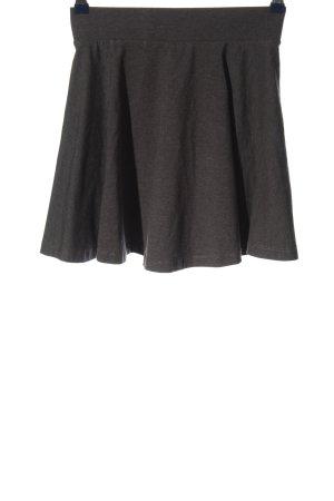 H&M Divided Falda acampanada gris claro moteado look casual