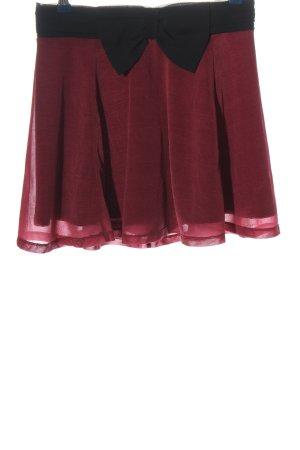 H&M Divided Glockenrock rot-schwarz Elegant