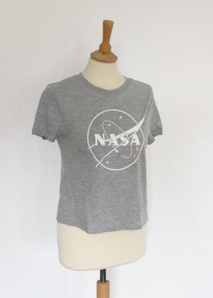 H&M Divided graues NASA T-Shirt