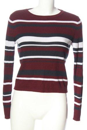 H&M Divided Sweter z grubej dzianiny Wzór w paski W stylu casual