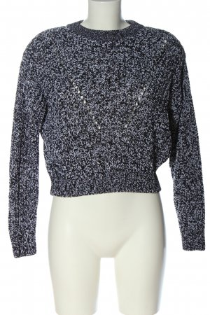 H&M Divided Coarse Knitted Sweater blue flecked casual look