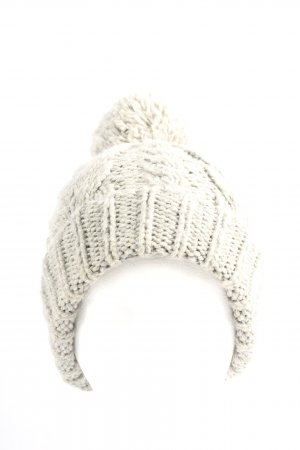 H&M Divided Crochet Cap natural white cable stitch casual look