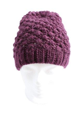 H&M Divided Gorro tejido lila look casual