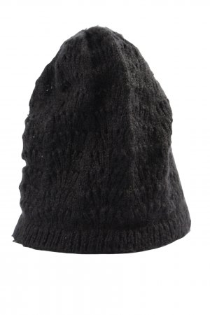 H&M Divided Crochet Cap black casual look