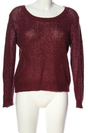 H&M Divided Szydełkowany sweter czerwony W stylu casual