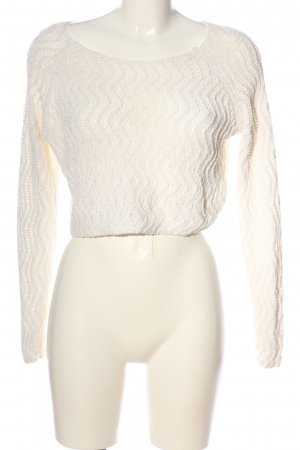 H&M Divided Jersey de ganchillo blanco look casual