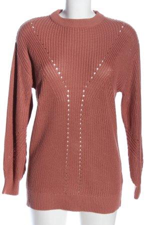 H&M Divided Jersey de ganchillo nude punto trenzado look casual
