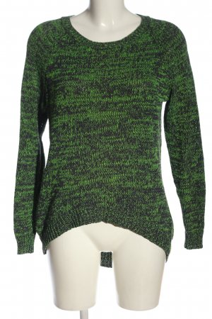 H&M Divided Crochet Sweater green flecked casual look