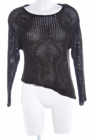 H&M Divided Crochet Sweater black casual look
