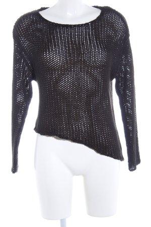 H&M Divided Jersey de ganchillo negro look casual