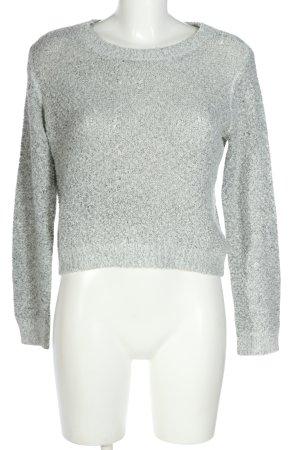 H&M Divided Gehaakte trui lichtgrijs casual uitstraling