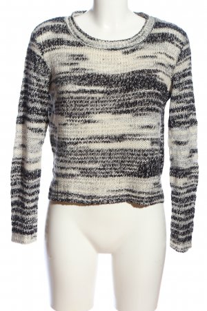 H&M Divided Crochet Sweater white-black abstract pattern casual look
