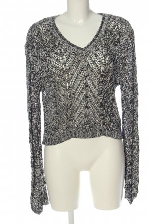 H&M Divided Crochet Sweater black-white casual look