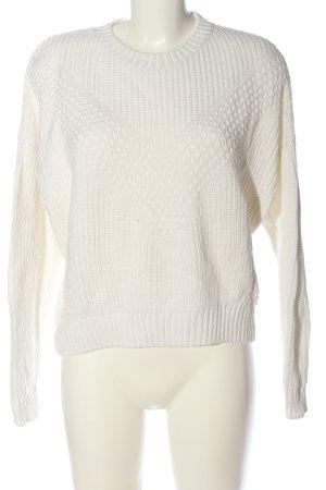 H&M Divided Gehaakte trui wit kabel steek casual uitstraling