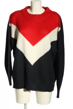 H&M Divided Crochet Sweater striped pattern casual look