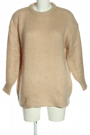H&M Divided Crochet Sweater brown cable stitch casual look