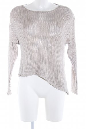 H&M Divided Crochet Sweater natural white casual look