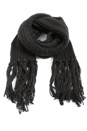 H&M Divided Crochet Scarf black casual look