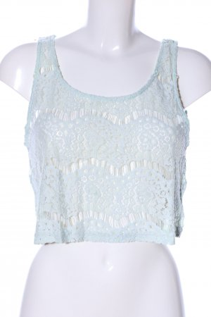 H&M Divided Crochet Top turquoise abstract pattern casual look